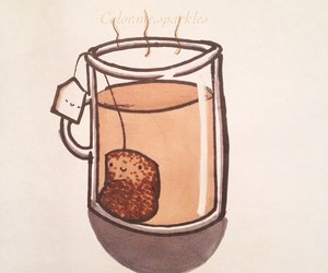 tea, teabag, and art image