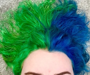 bluehair, hair, and twotone image