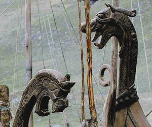 vikings, boat, and nordic image