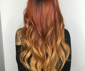 blonde, hair styles, and red hair image