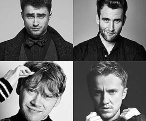 harry potter, tom felton, and daniel radcliffe image