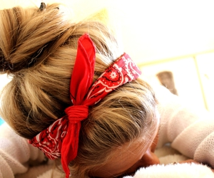 hair, girl, and bandana image