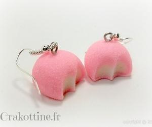 earrings, kawaii, and pink image