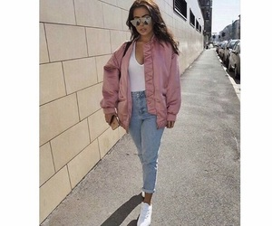 jacket, street, and white sneakers image