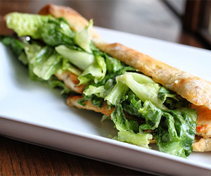 food, salad, and sandwich image