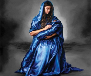 baby, blue, and mary image
