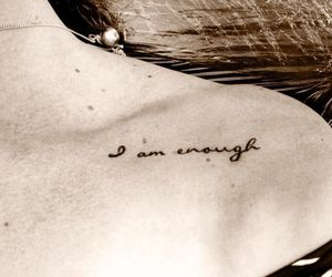 enough, girl, and tattoo image