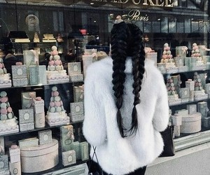 aesthetic, braided, and hair image