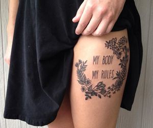 tattoo, body, and flowers image