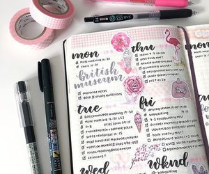 motivation, pink, and study image