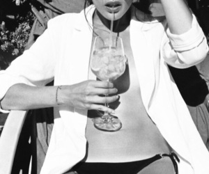 b&w, beautiful, and cocktail image