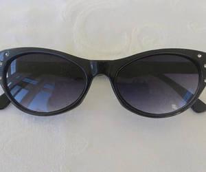 black sunglasses, etsy, and vintage glasses image