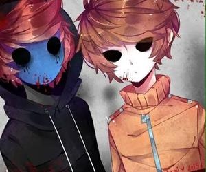 eyeless jack, másky, and creepypasta image