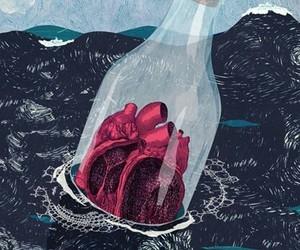 heart, art, and sea image