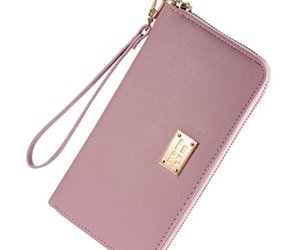 Amazon, pink, and wallet image