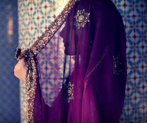 india, purple, and woman image
