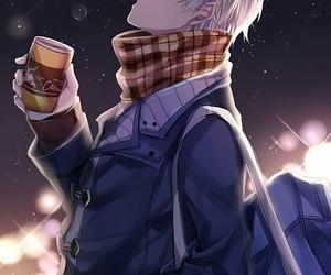 white hair and anime boy image