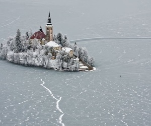 slovenia and winter image