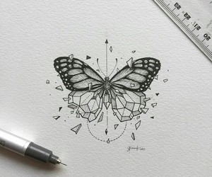 art, butterfly, and goals image