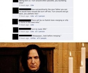 harry potter, snape, and gps image