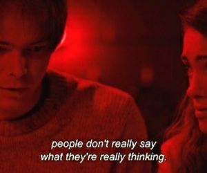 quotes, stranger things, and red image