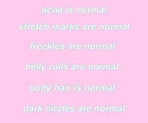 acne, body hair, and dark circles image