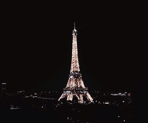 city, night, and french image