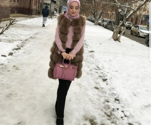 fashion, hijab, and snow image