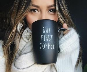 cofee and girl image