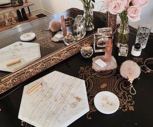 cosmetics, flowers, and perfume image