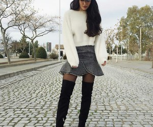 fashion, knitwear, and style image