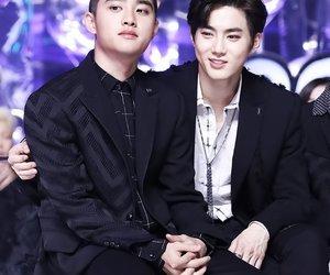 exo, kyungsoo, and suho image