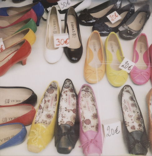shoes and polaroid image
