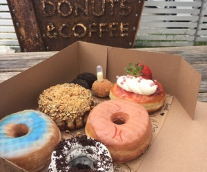 delicious, desserts, and donut image