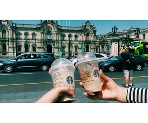 starbucks, friendshipgoals, and perú image