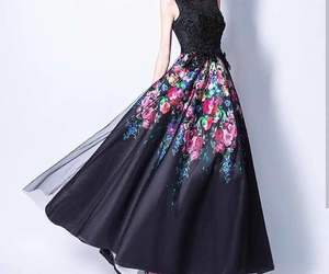 beautiful, black, and dress image