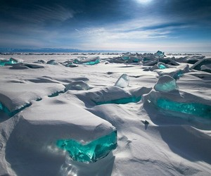 blue, winter, and ice image