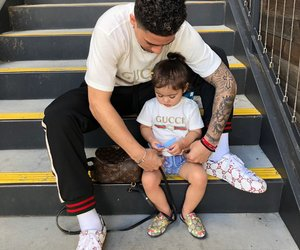 dad, gucci, and catherine paiz image