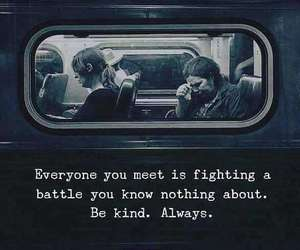battle, be kind, and hard time image