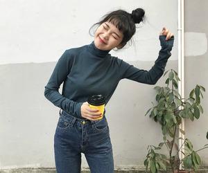 asian fashion, girl, and kfashion image