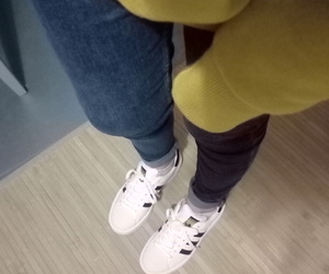 adidas, yellow, and superstar image
