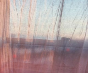 window, pink, and curtains image