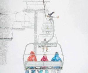 ski, ski lift, and snow image