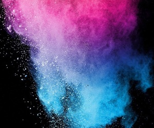 black, blue and pink, and iphone image