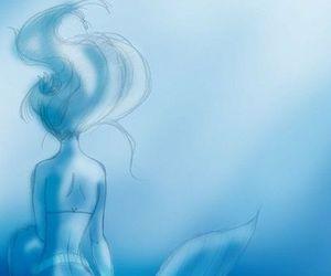 disney, ariel, and blue image