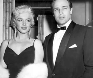 Marilyn Monroe, marlon brando, and vintage image