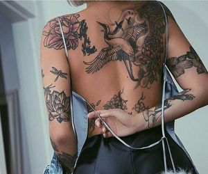 tattoo, ink, and back image