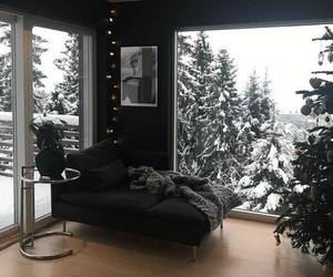 winter, house, and interior image