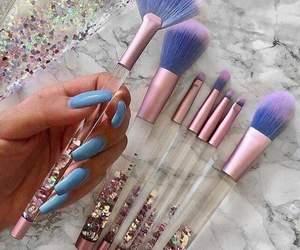 makeup, Brushes, and nails image