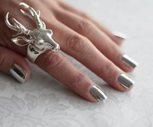 nails, ring, and silver image